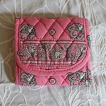 Vera Bradley Small Pocket Wallet in Pink Bandana Print - Retired Print Photo
