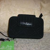 Vera Bradley Smartphone Wristlet Black Microfiber Bnwt  Photo