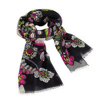 Vera Bradley Soft Fringe Scarf in Moon Blooms Nwt Photo