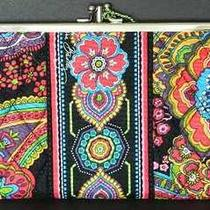 Vera Bradley  Symphony in Hue  Clutch Wallet  Double Kiss Lock  Nwt Photo