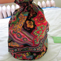 Vera Bradley Symphony in Hue Ditty Bag Travel Lunch Cosmetic Gym Nwt New Photo