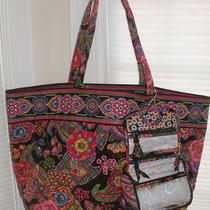 Vera Bradley Symphony in Hue Grand Tote/ Mini Hanging Organizer-Nwt Photo