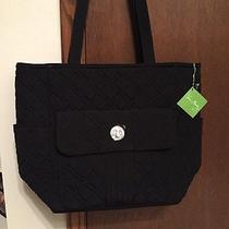 Vera Bradley  Tablet Tote in a Black Microfiber Nwt & Sold Out Photo