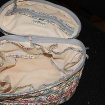 Vera Bradley Travel Make Up Medicine Bottles Jewelry Bag Baby Blue Euc Photo