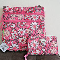 Vera Bradley Triple Zip Hipster Crossbody and Turnlock Wallet Blush Pink-Rare Photo