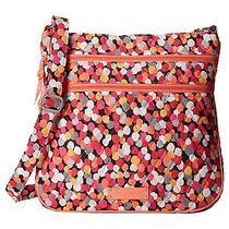 Vera Bradley Triple Zip Hipster Pixie Confetti Crossbody Tote Bag Purse New Photo