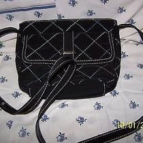 Vera Bradley Trolley Bag Black Microfiber Nwt Photo