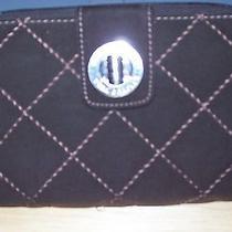 Vera Bradley Turn Lock Wallet - Brown Quilted Microfiber  Photo