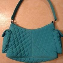 Vera Bradley Turquoise Microfiber Pocket Hobo - Used Photo