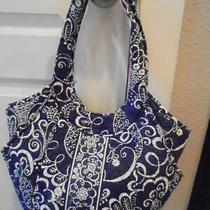 Vera Bradley Twirly Birds Navy Hobo Handbag Purse Beautiful Condtn Low Fast Ship Photo