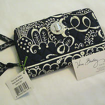 Vera Bradley Twirly Birds Navy Turn Lock Wallet for Purse Tote Backpack Bag Nwt Photo