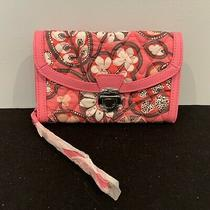 Vera Bradley Ultimate Wristlet / Wallet Blush - Pink & White - Nwt Faux Leather Photo
