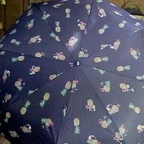Vera Bradley Umbrella Toucan Party 23774-Q60 Automatic Large Navy Pineapples New Photo