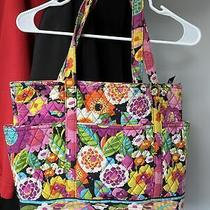 Vera Bradley Va Va Bloom Floral Pink Tote Bag Photo