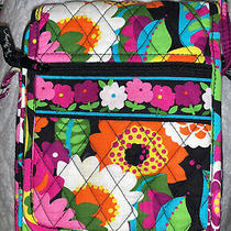 Vera Bradley Va Va Bloom (Retired) Pattern Mini Hipster Crossbody Purse/bag W Id Photo
