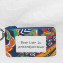 Vera Bradley Venetain Paisley Zip Id/key Ring/case New With Tags Free Shipping Photo