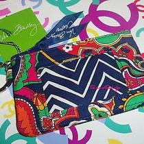 Vera Bradley Venetian Paisley Zip Id Case New Id Holder Key Ring New With Tag Photo