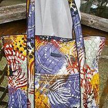 Vera Bradley Vera 2.0 Painted Feathers Large Tote Bag Travel Carry All Purse 86 Photo