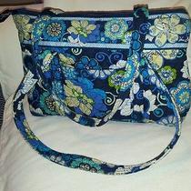 Vera Bradley Vera Mod Floral Blue Tote Shoulder Bag Photo