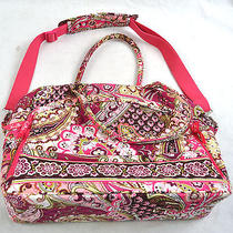 Vera Bradley Very Berry Paisley Messenger Metropolitan Computer Travel Bag   Photo