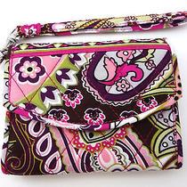 Vera Bradley Very Berry Paisley Wallet Wristlet Iphone 4/4s Case Id Holder Nwot Photo