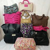 Vera Bradley Victoria Secret Fossil Shoulder Handbag Crossbody Tote Lot of 11 Photo