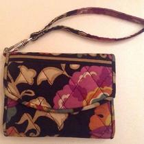Vera Bradley Wallet and Phone Holder Wristlet- Suzani Fits Iphone (Not 6) W/case Photo