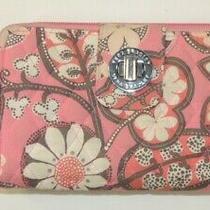Vera Bradley Wallet Blush Pink Floral Flower Pattern Card Twist Lock Zipper Coin Photo