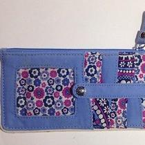Vera Bradley Wallet Boysenberry Id Credit Card Holder Case Retired Rare Color Photo