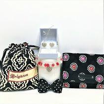 Vera Bradley Wallet Brighton Silver Heart Earrings W/pouch & Bracelets Photo