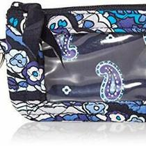 Vera Bradley Women's Wallet Signature Cotton Zip Id Case Deep Night Paisley O... Photo