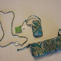 Vera Bradley Womens 3pc Set Peacock Design Cell Phone Case Cosmetic Necklace Nwt Photo