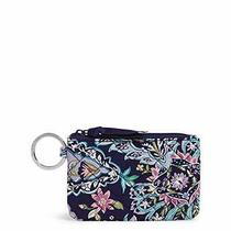 Vera Bradley Womens Signature Cotton Zip Wallet Id Case French Paisley One Si... Photo