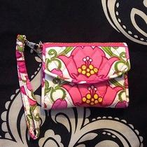 Vera Bradley Wristlet Iphone 4 Wallet - Excellent - Hot Pink Floral Photo