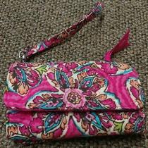 Vera Bradley Wristlet Wallet Pretty in Pink  Purse Accessory Womens Teens Euc Photo