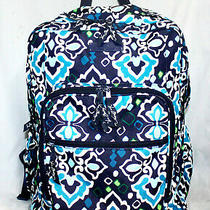 Vera Bradley Xlarge Iconic Campus Backpack in Ink Blue Nylon Canvas Photo