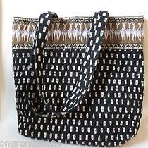 Vera Bradley Zebra Villager Large Tote Bag Purse Shopping Bag Photo