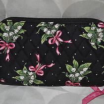 Vera Bradley Zip-Around Clutch Wallet W/ Retractable Wrist Strap in New Hope  Photo