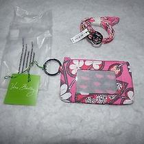 Vera Bradley Zip Id Case & Breakaway Lanyard Blush Pink New Nwt  Photo