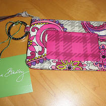 Vera Bradley Zip Id Paisley Meets Plaid Tag Unused Coin Card Keeper Key Ring Photo