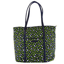 Vera Bradleytrimmed Vera Tote in Lucky Dots With Navy Trim Photo
