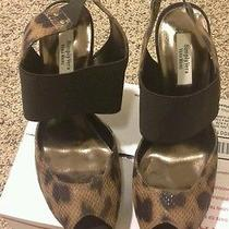 Vera Wang Animal Print Shiny Sling Heels Shoes  Size 7.5  Euc Photo