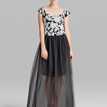 Vera Wang Beautiful Embroidered Evening Prom Wedding Tulle Dress 12 Uk - Us 8 10 Photo