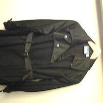 Vera Wang Black Trendy Trench Spring Coat Photo