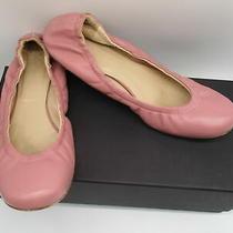 Vera Wang Collection Pink Leather Scrunch Ballet Flats Sz 37.5 Photo