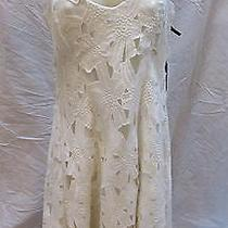Vera Wang Couture Embroidered Lace Ivory Tank Dress 6 New Photo