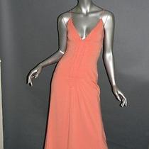 Vera Wang Dress Sz 4 Peach Soft Knit Sleeveless Cocktail Photo