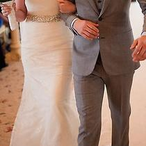Vera Wang for Davids Bridal Wedding Dress With Vail.  Photo