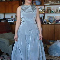 Vera Wang Gown 2 Piece Long Formal Dress Grey Taffetta Size 6 Perfect Condition Photo