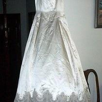 Vera Wang Ivory Satin and Lace Wedding Dress  Photo